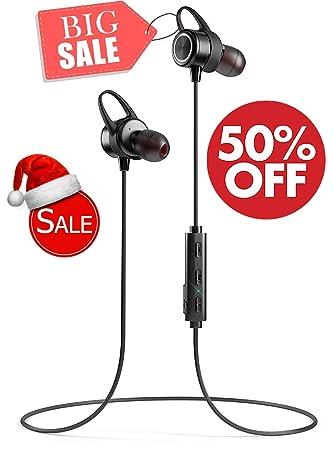 Auriculares Bluetooth Inalámbricos Impermeable IPX7 Con Micrófono Auriculares Inalámbricos Magnéticos Mini Auriculares Cancelación de Ruido, Deportes, ...