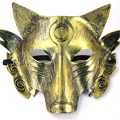 Partyfareast Cosplay Wolf Costume Mask Full Face Mask for Men Women -