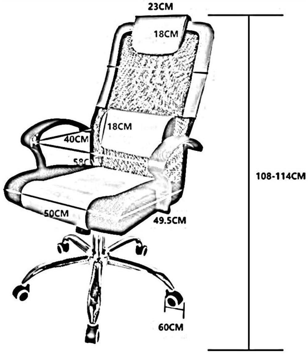 Barstolar Xiuyun kontorsstol spelstol svängbar stol, kontor chef stol roterbar stol lyft hem dator stol mobil lärande stol svängbar stol (färg: svart) Svart