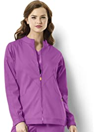 WONDERWINK Womens Next Boston Warm Up Women's Plus Scrub Jacket Medical Scrubs Jacket