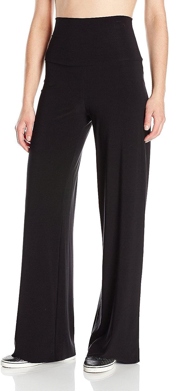 Womens Wide Leg Stretch Trousers