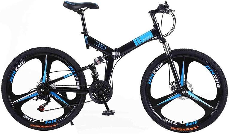 RYP Bicicleta para Joven Bicicletas De Carretera Bicicleta de montaña Plegable de la Bici Adulta MTB Carretera Bicicletas for Hombres y Mujeres 24En Ruedas Ajustables Velocidad Doble Freno de Disco: Amazon.es: Hogar