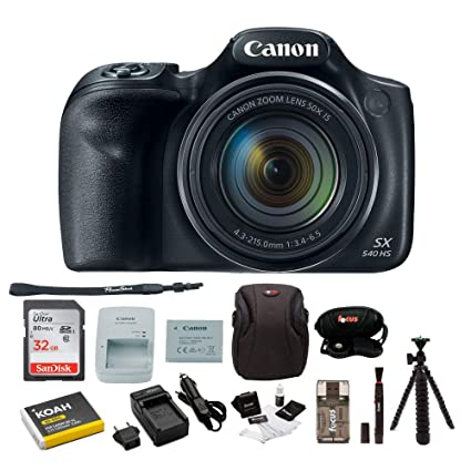 Amazon.com: Canon PowerShot SX540 HS Cámara digital w ...