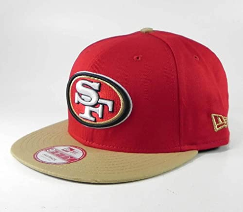 New Era 9fifty Baycik Snapback NFL San Francisco 49ers Hat Cap red khaki (M f15e1d9e2641