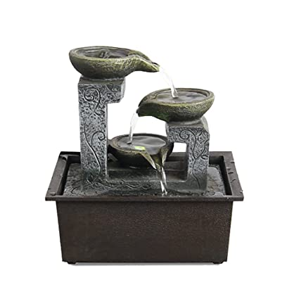 Moylor Indoor Tabletop Fountains   Small Portable Desktop Waterfall Kit  With Water Pump