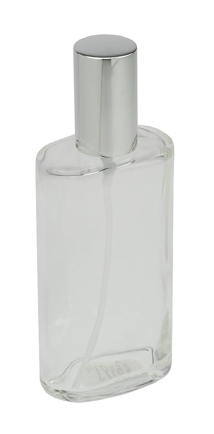 Fantasia 46193 Botella de vidrio transparente, Ovalado, con rociador bomba y tapa, para