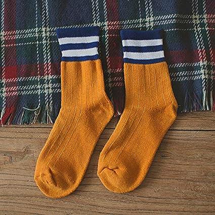 Otoño e invierno calcetines de las mujeres japonesas de terry en el tubo que espesa dos