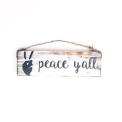 Amazon.com: Ruskin352 Peace Yall sign yoga peace sign ...