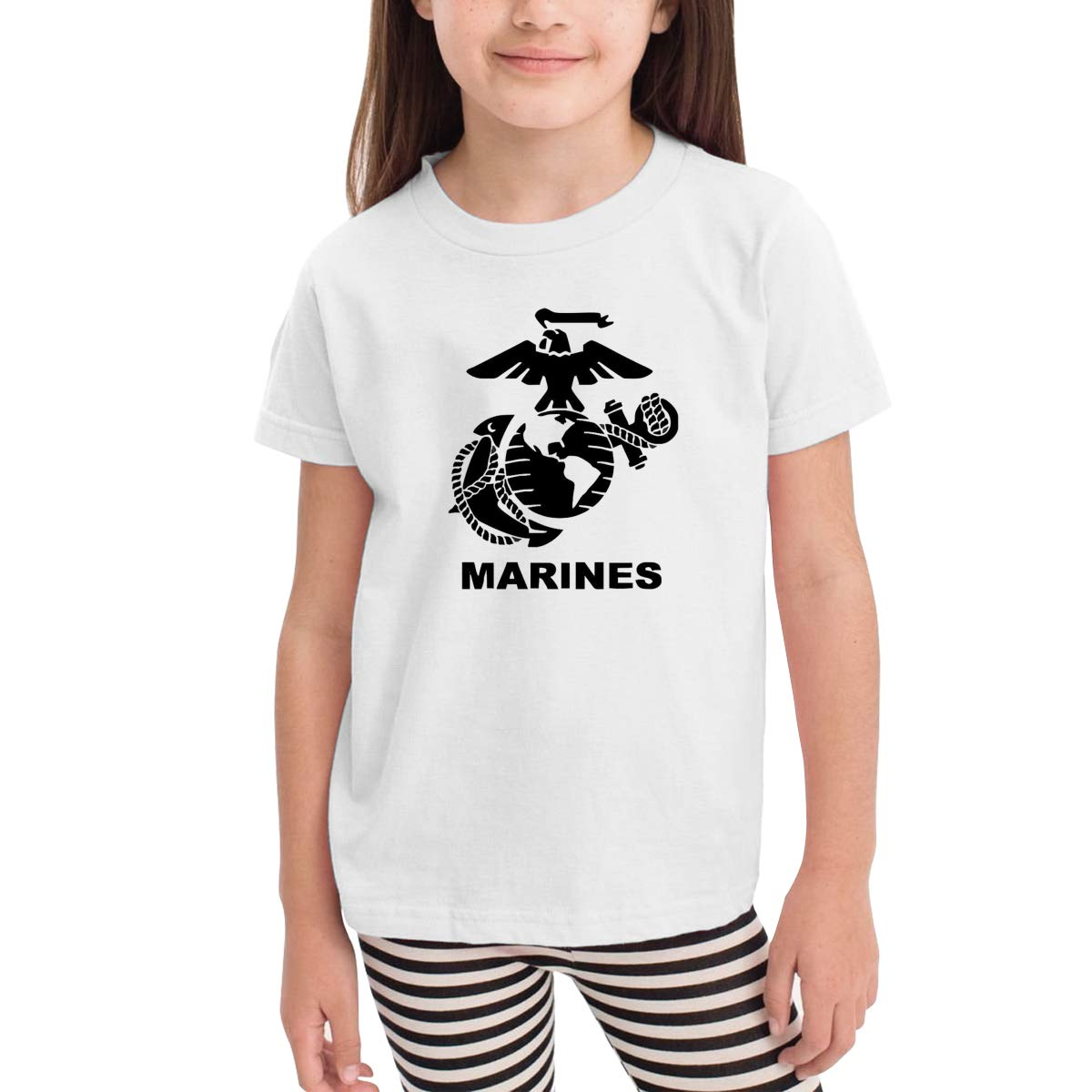Onlybabycare US Marine Corps Logo 100/% Cotton Toddler Baby Boys Girls Kids Short Sleeve T Shirt Top Tee Clothes 2-6 T