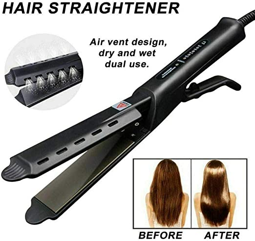 inshias Hair Straightener, Ceramic Tourmaline Ionic Flat