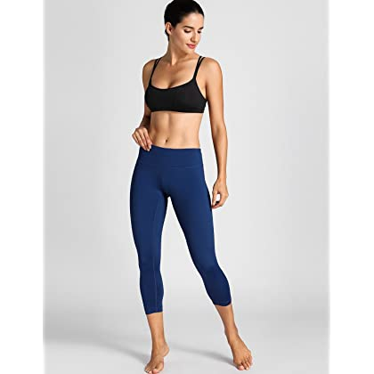 83fba45b05716 ... CRZ YOGA Women s Padded Cool-Look Criss Cross Strappy Yoga Sports Bra  Black S ...