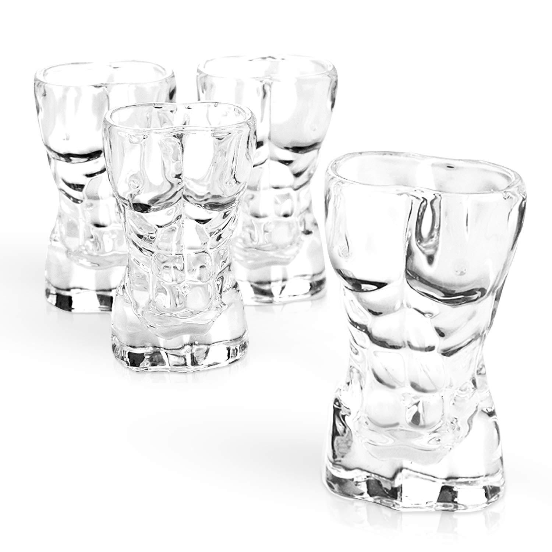 South Island Funny Man Shaped Shot Glasses Pack