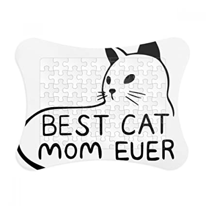 Amazon.com: Best Cat Mom Ever Quote DIY Design Paper Card Puzzle ...