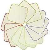 Babygoal Lot de 12 lingettes en flanelle de bambou lavables réutilisables pour salive 20,3 cm (20,32 cm 20,32 cm)