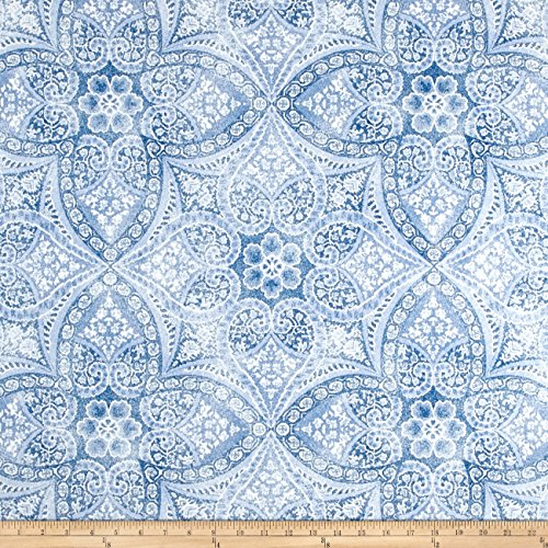 (P Kaufmann 0432577 Indoor/Outdoor Alfresco Azure Fabric by The Yard)