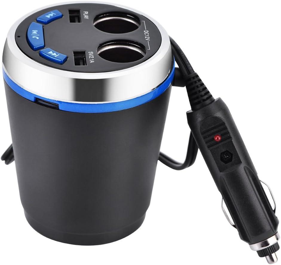 Mavis Laven Transmetteur FM Bluetooth Prise Allume-Cigare Double USB Chargeur pour Voiture Allume-Cigare kit Mains Libres pour Smartphone