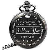 LEVONTA Brother Birthday Gifts from Sister or Brother, to My Brother Pocket Watch, Brother Gifts Ideas for Christmas Graduati