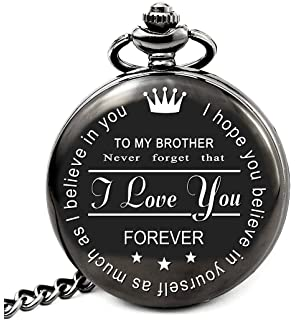 Amazoncom Qise Pocket Watch To My Brother Love Sisterlove