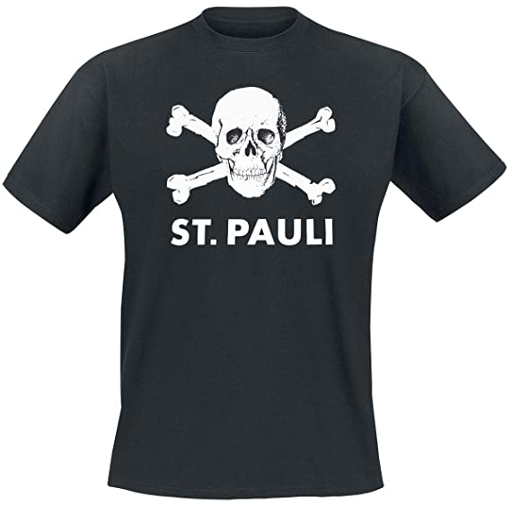 763d26351b1212 FC St. Pauli Totenkopf T-Shirt schwarz  Amazon.de  Sport   Freizeit