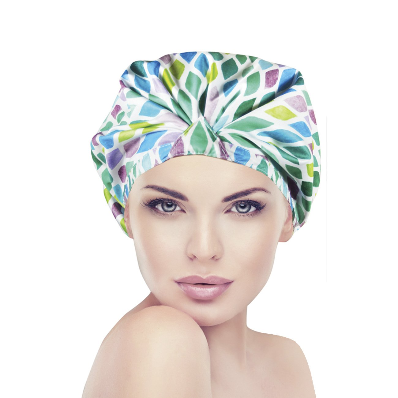 Fine Shower Cap Dain Trendy Turban Comfort Fit Aqua Stones Beauty In Design