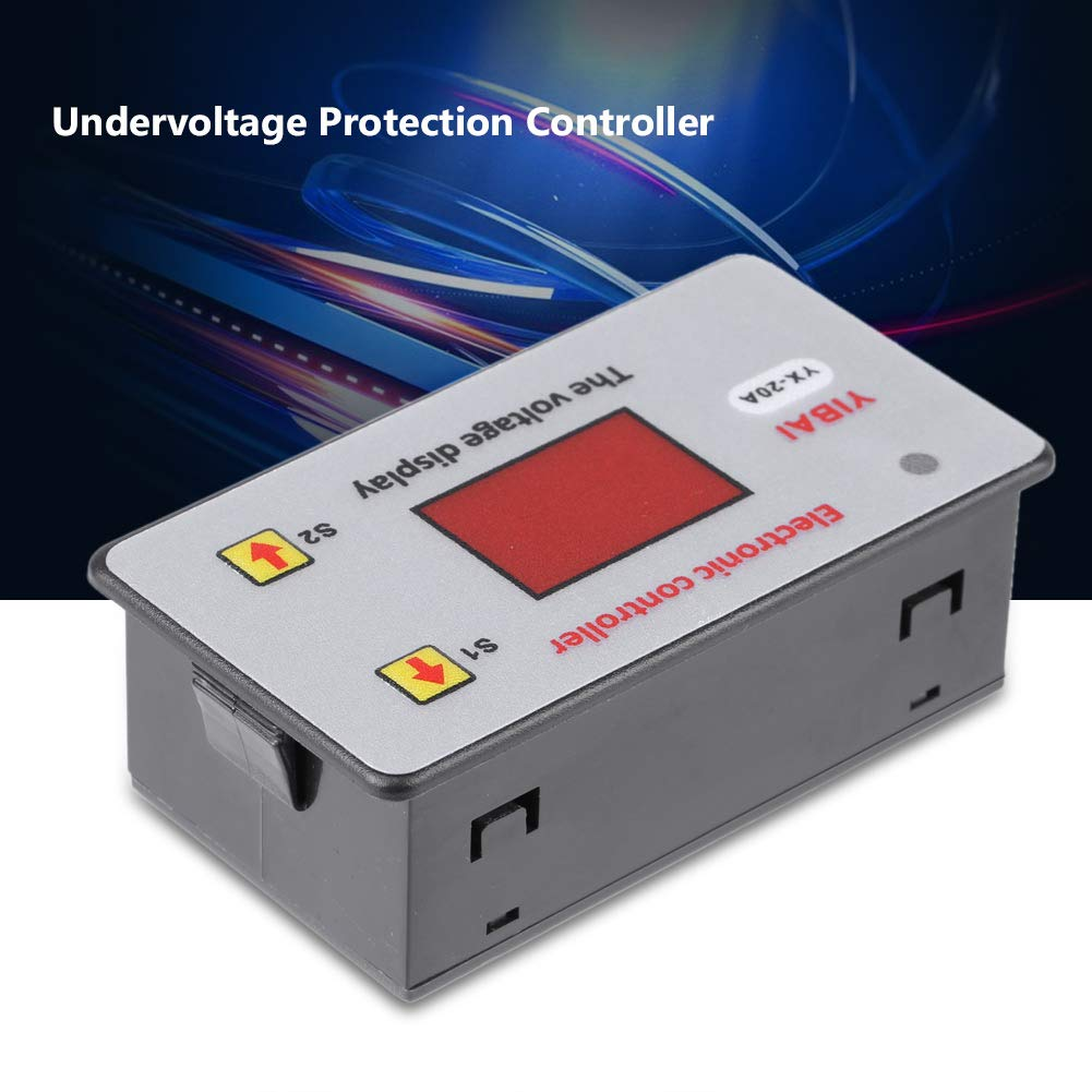Battery Low Voltage Cut off Controller,12V Automatic Switch On Cut Off Protection with LED Indicator Under-Voltage Controll