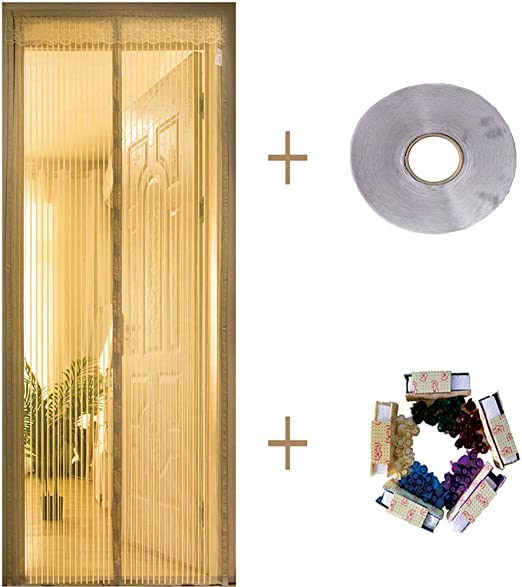 WearTcolf Pegatina Mágica Puerta De Pantalla Magnética, Ventilación Uñas Gratis Adecuado para Puertas Correderas,baño Puerta De Pantalla Magnética Fácil De Instalar -a 140x230cm(55x91inch): Amazon.es: Hogar