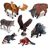 Ericoo Animal Toys Set Educational Resource High Simulation North American Animals Figures -Anim006
