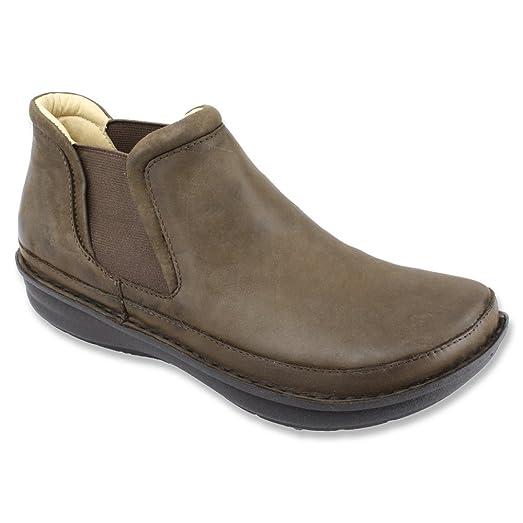 Men's Ankle Boots/Alegria Lewiston Dark Brown Nubuck