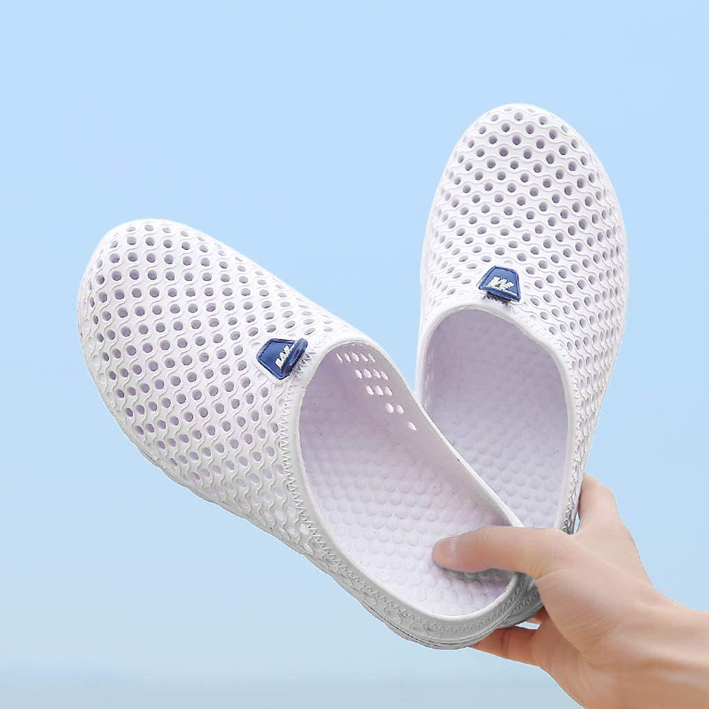 Mens Women Solid Beach Sandals❀Ladies Hollow Out Casual Breathable Slippers Flats Shoes