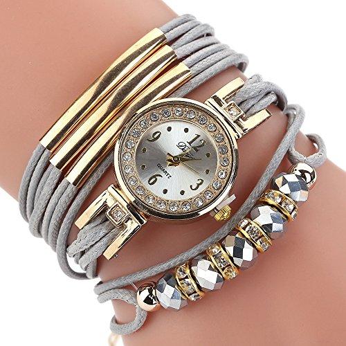 Hotsale! Wensltd Women Gift Luxury Bracelet Flower Gemstone Wristwatch - Kors Price Stock