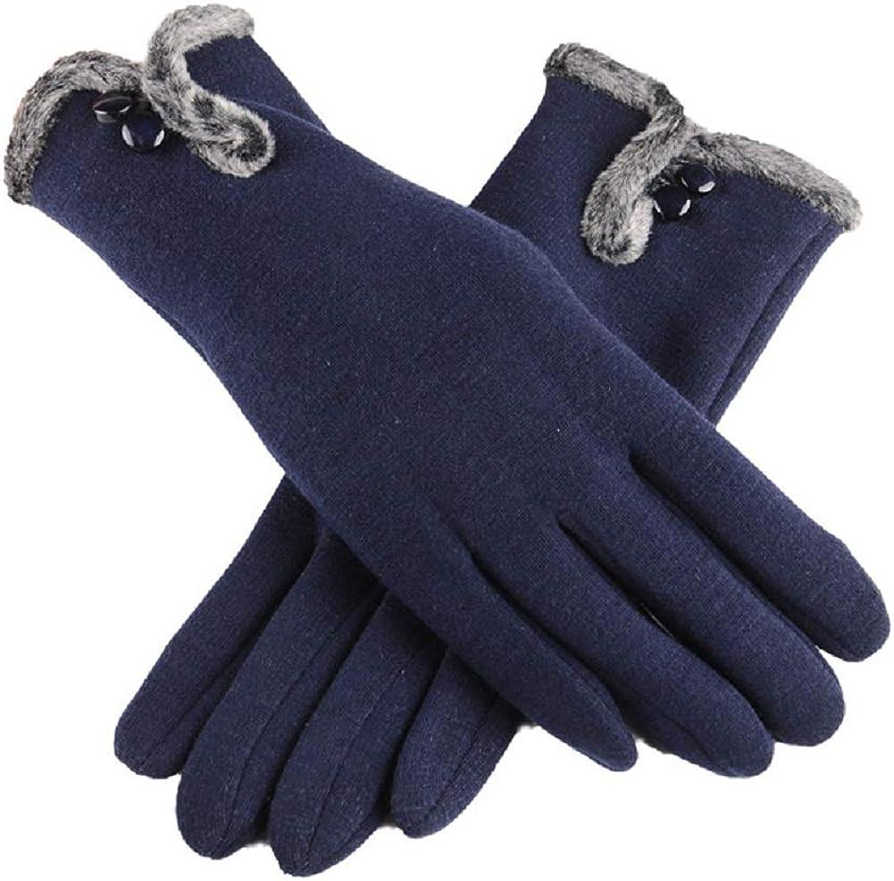 guanti da donna per touchscreen spessi guida caldi e alla moda sci corsa ciclismo antivento Guanti invernali da donna per sport