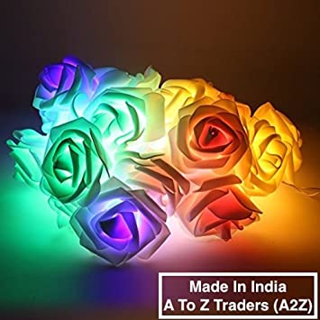A2Z 5Meter MultiColour Roses LED Fairy String Light & 1 Hand Shape Keychain Specialty Lighting at amazon