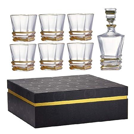 ZCXBHD Vasos Whisky Gift Set 7-Piezas, 100% Sin Plomo ...