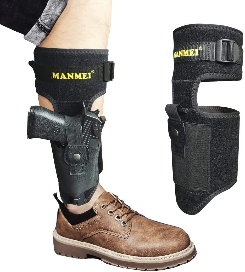 M/&P Shield Bodyguard Ankle Holster for Glock 43 42 36 26 19 Ruger LCP LC9 Secured and Comfortable Sig Sauer Enhanced Version Ankle Holster for Concealed Carry
