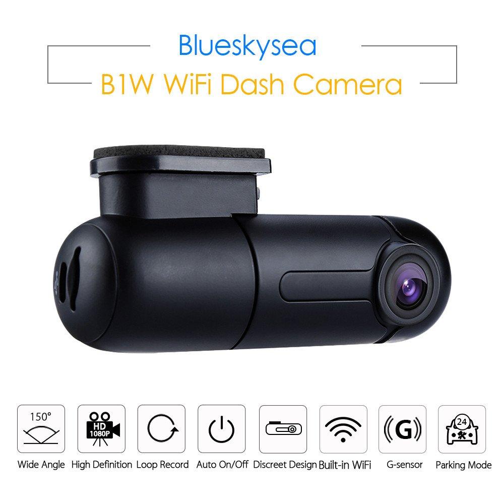 Blueskysea WiFiダッシュカメラHD 1080pミニ車DVR 360 °回転角度ダッシュカム車両コンデンサダッシュボードApp Monitor withループ録画G -センサー、 B07BNGBBTF