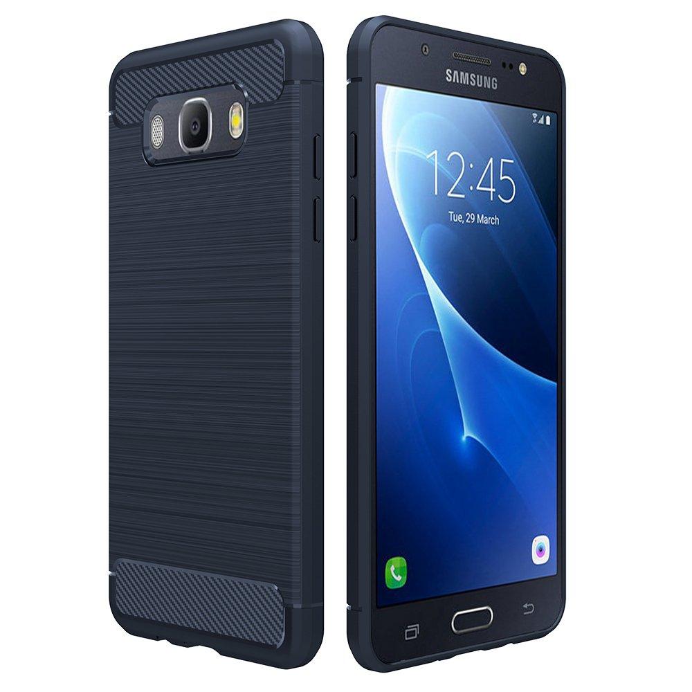 Simpeak Funda Compatible con Samsung Galaxy J5 2016, Azul Silicona Fundas Compatible con Samsung J5 2016 Carcasa Compatible con Samsung J5 2016 Fibra ...