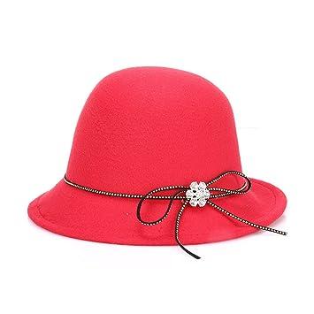 Road&Cool Gorras Sombreros Trilby De Lana Jazz Sombrero De Copa ...