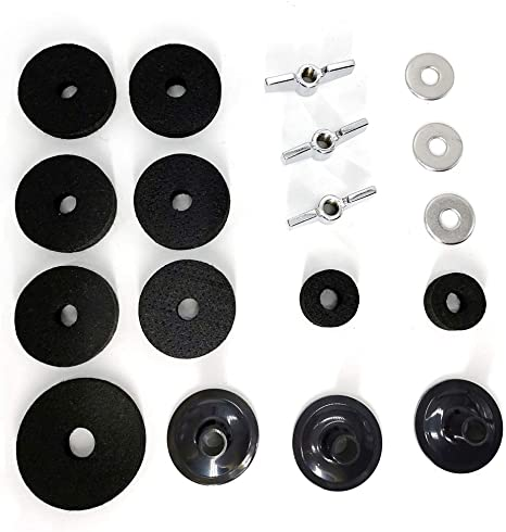 12 pezzi. Maniche in feltro per piatti Doolland con base ad alette e rondella per piatti 12 pezzi