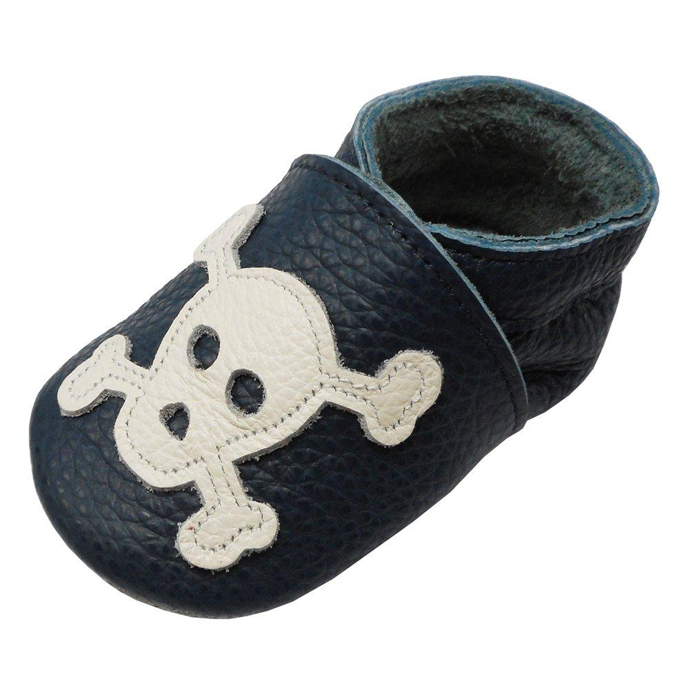 YIHAKIDS Chaussures Bébé en Cuir Souple - Chaussons Bébé - Chaussures Premiers Pas - 0-36 Mois