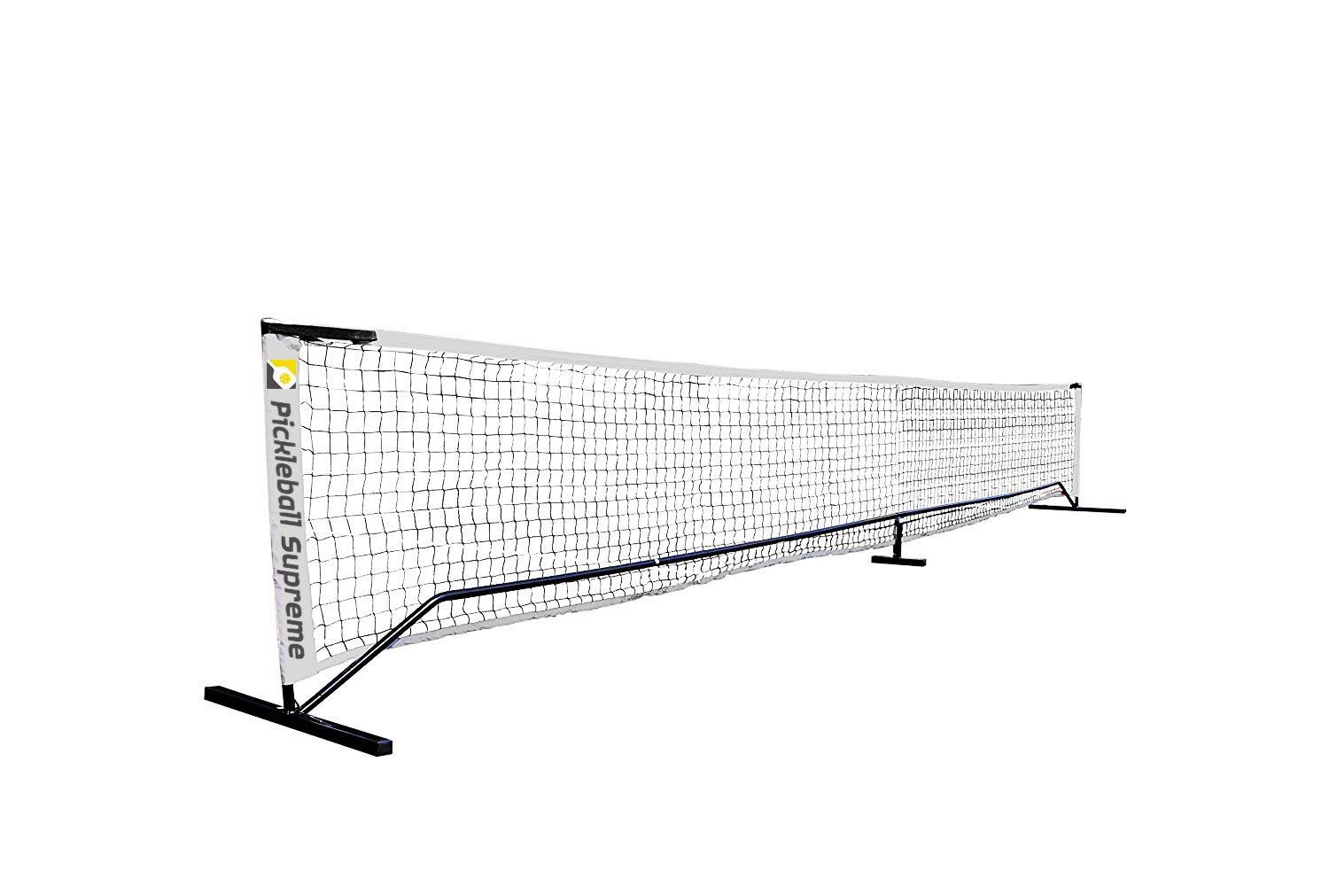 Complete Set: Pickleball Portable Net, Two Wood Paddles & Six Pickleballs by Spartan Athletic Co.