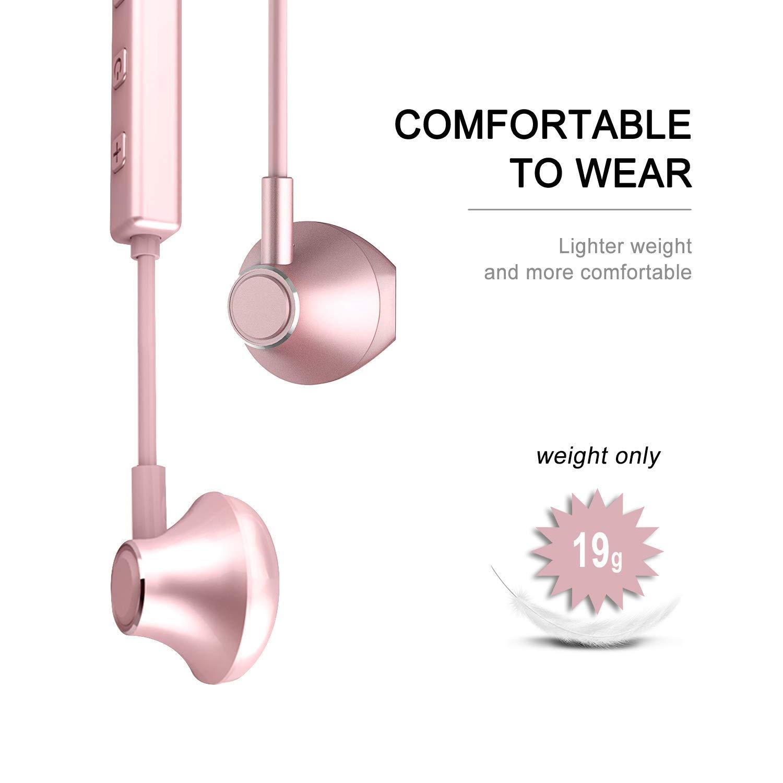 Écouteurs Bluetooth 5.0,Oreillette Sans Fil Casque Bluetooth Sport Stéréo,Ecouteurs Intra Auriculaires Magnétique,Etanche IPX5 Réduction Du Bruit Mic Mains Libres Compatibles Téléphone/Tablette, etc.