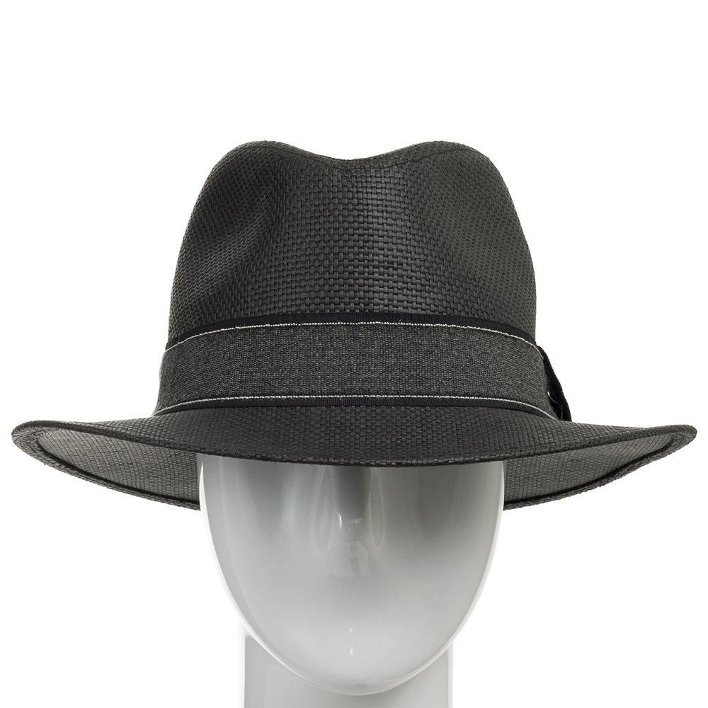 6cbb9037bd8d1 Ultrafino Barrington Dark Straw Panama Hat with Black Stripped Band at  Amazon Men s Clothing store