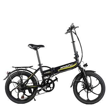 XXCY Laday/Hombres Bicicleta eléctrica Plegable 1.75 x 20 Pulgadas Bicicleta de montaña Tenedor Delantero