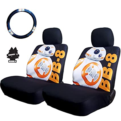 New Star Wars BB8 Car Truck SUV Seat Covers Steering Wheel Cover With Air Freshener