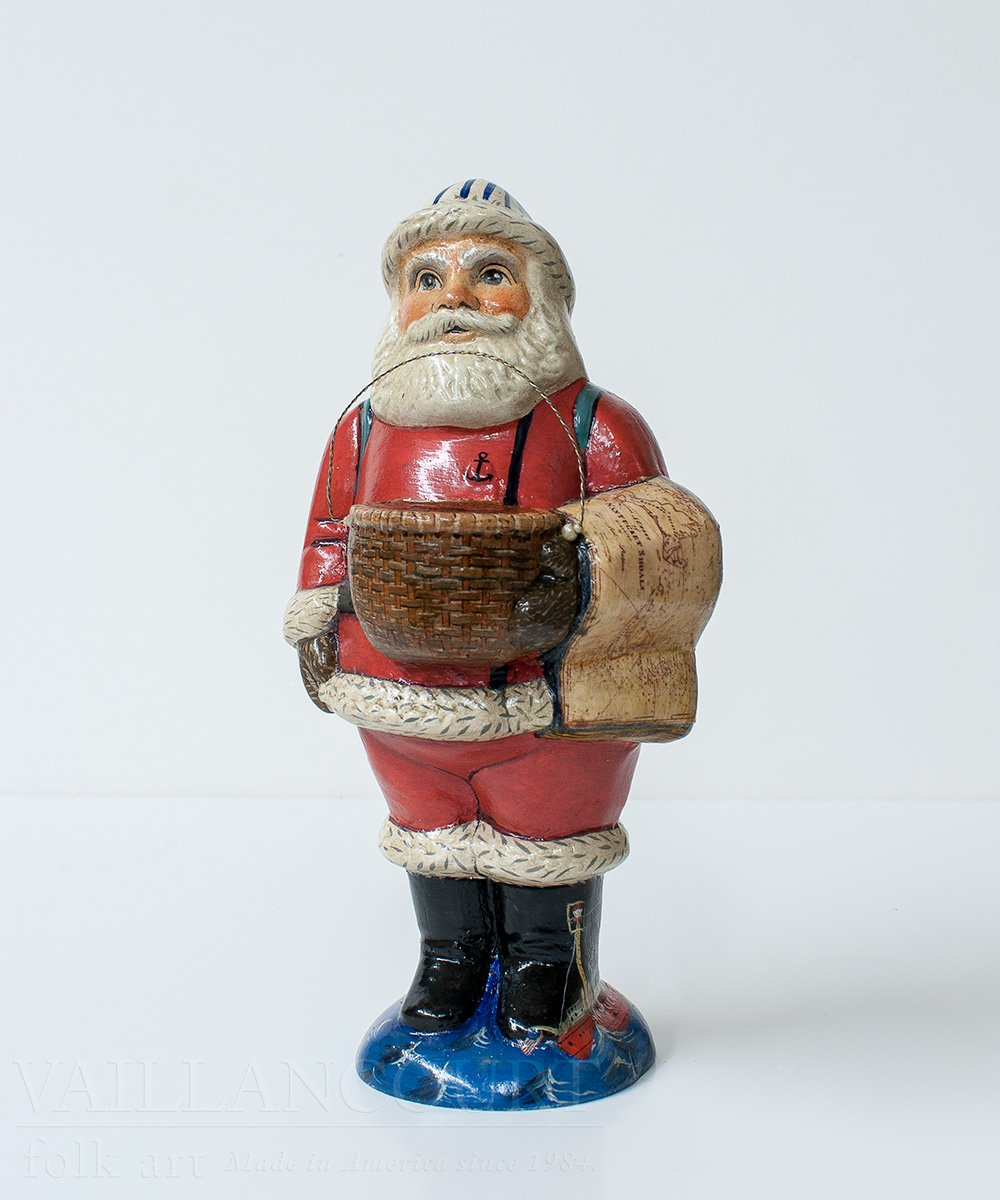 Nantucket Lightship Santa by Vaillancourt Folk Art