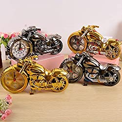 Hrph Motorcycle Alarm Clock Shape Creative Retro Gifts Upscale Furnishings Boutique Home Decorator(random color)