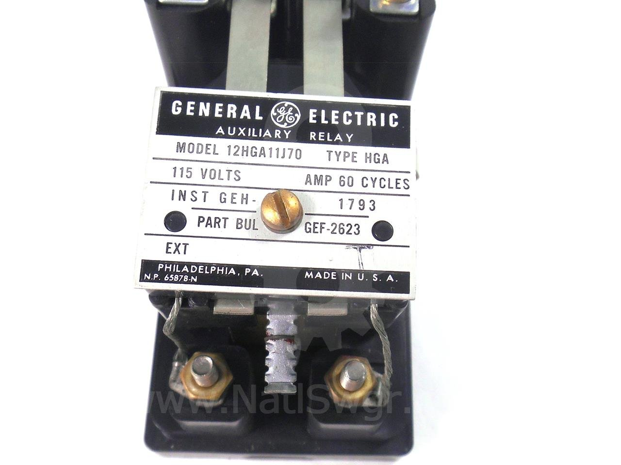 General Electric 12hga11j70 Auxiliary Relay Missing Cover Used Electrical For U Electronic Components Industrial Scientific