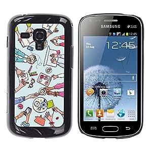 Dragon Case - FOR Samsung Galaxy S Duos S7562 - Do not seat your love - Caja protectora de pl??stico duro de la cubierta Dise?¡Ào Slim Fit
