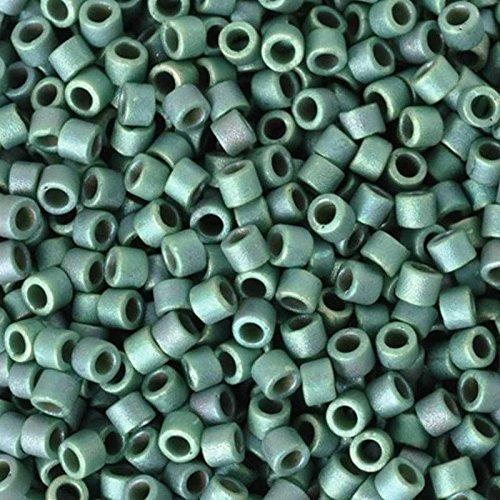 Seed Beads-11/0 Delica-373 Matte Metallic Dark Sage-Miyuki-7 Grams