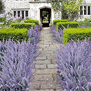 Veryhome Artificial Lavender Flowers Bouquet Fake Lavender Plant for Wedding Home Garden Decor 8 Bundles 5